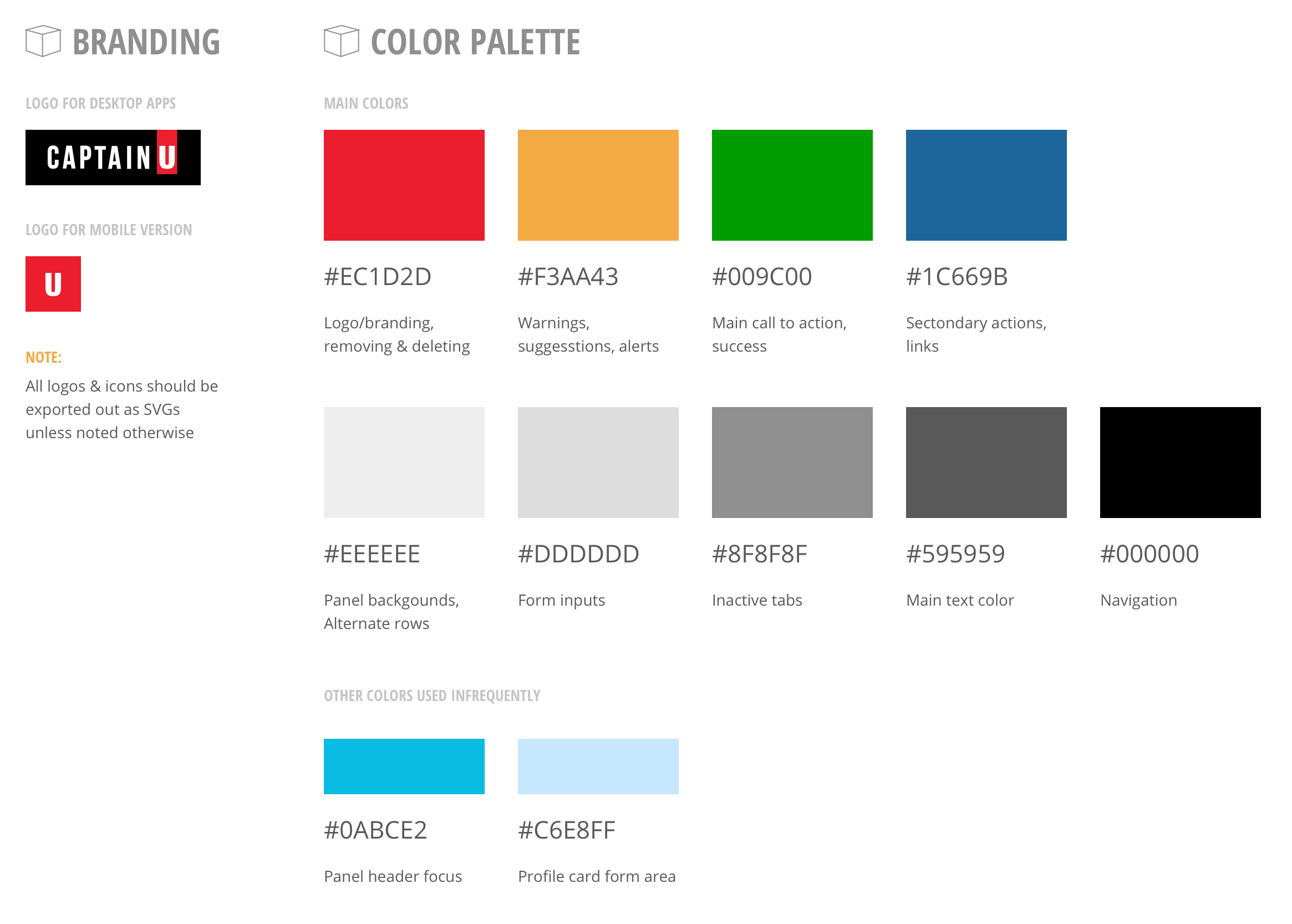 branding and colors